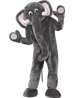 Brand New Custom made Éléphant Éléphant Adulte Fancy Dress Costume Mascotte du Cirque, de la livraison gratuite