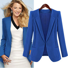 Wholesale 2013 Hottest Casual Suit Women V Neck Solid Color No Button Fashion Street Style Women Slim Suits High Quality B