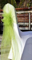 Wholesale Top Quality Big snow Grass Green Organza Chair Sashes Chair With Hood cmX275cm By HongKong Post Air