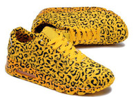 Wholesale Fashion Yellow Leopard Unisex Running Shoes Men Sneakers Design Women Sports Boots Ladies Runs Footwear Eur36 Size Cheap New In Box