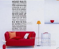 Wholesale House Rule Rules Wall Sticker In This House Wall Quote Saying Decal Vinyl Wall Decal