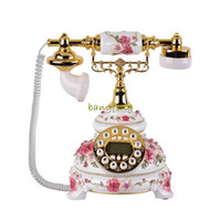 Wholesale New arrival fashion antique classical rose three dimensional rustic style antique telephone