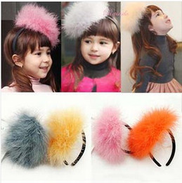 Wholesale New Arrival Kids Hair Accessories Children Korean Plume Hair Clasp Baby Lovely Acting Cute Homburg Hair Clasp Girl Frocks Hair Accessories