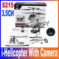 Wholesale WL Toys ch Iphone Ipad Android Remote Control RC Micro Helicopter with Camera WLtoys S215 RTF i H