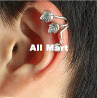Wholesale New Fashion accessories costume Jewelry Trendy Puck Rock Leaf Earrings Ear Cuff Alloy Leaf Ear Clip Earrings RJ445