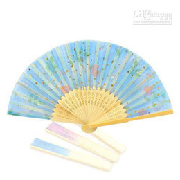Wholesale Chinese Silk folding Bamboo Hand Fan Fans Art Handmade Flower
