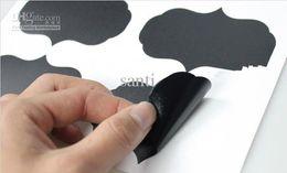 Х большой Онлайн-Большой размер 6см х 9см винил доске этикетки наклейка 36 шт / комплект Blackboard наклейки Наклейка на стену отлично подходит для маркировки банок