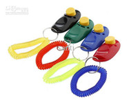 Wholesale Hot Dog Pet Click Clicker Training Trainer I click Aid Wrist Strap Obedience Agility