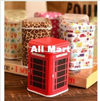 Wholesale by DHL Mini Tea Tin Toot pick box Hot Cylinder Candy Storage box Case Multi purpose style RJ1227