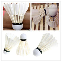 Wholesale Training White Goose Feather Shuttlecocks Birdies Badminton Ball Game Sport speed
