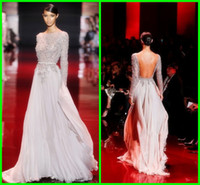 Cheap Reference Images backless Prom Dresses Best Scoop Chiffon backless evening dresses