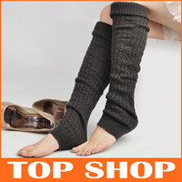 Wholesale Winter Loose Fashion Boot Cuffs Thick Warm Over Knee Wool Knitted Leg Warmers For Women Knee Socks FZ0038