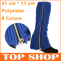 Wholesale Winter Fashion Warm Knitting Zipper Leg Warmers CM Free Size Boot Cuffs Socks Women