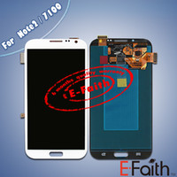 Wholesale For Samsung Galaxy Note N7100 White Grey Touch LCD Screen Digitizer Replacement Free DHL ship