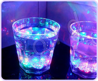 Wholesale Blinking Flashing Rocks Glass Barware Lamp Wine Cup Whiskey Cup Water Activated LED Light Up