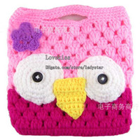 Wholesale Crochet Purses Children Purses Fashion Multicolor Bag Coin Purse Cute Cartoon Modelling Purses Childrens Bags Change Purse Key Bag Kids Bags