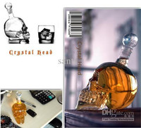 Wholesale Vodka Skull Face Bone Glass Bottle Decanter Empty Bar Line For ml Popular Cool Crystal Head