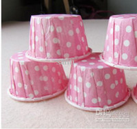 Wholesale Paper Dots patterns muffin cases cake cups cupcake cases bake cup cupcake wrappers