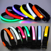 100pcs Ribbon Waterproof LED pet dog collars LED pet Flashin...