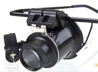 Wholesale Magnifying Eye Glasses Loupe Lens Jeweler Watch Repair LED Light Glasses X Magnifier