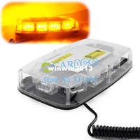 Wholesale New arrival DC12V LED W Magnets8 flash patterns Emergency Strobe Lightbar K30 W Amber Light