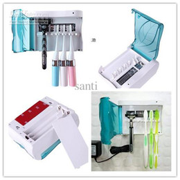 Wholesale Fashion New Arrive UV Toothbrush Sanitizer Sterilizer Holder Cleaner Bathroom Box