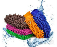 Wholesale Microfiber Snow Neil fiber high density car wash mitt car wash gloves towel