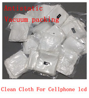 Anti-static Packaging - LCD Separator Repair Vacuum Packaging Clean Cloth Microfiber Strong Anti static dust for Iphone samsung htc universal cellphone lcd