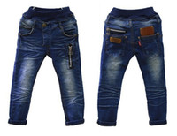 Cheap hot 2014 new children's clothing boys wild baby jeans children trousers new Korean version