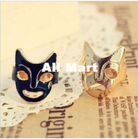Wholesale Fashion accessories costume Jewelry Halloween Gift Vintage Sad and Happy mask Ring set RJ730