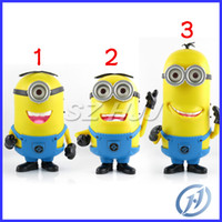 Wholesale Cute Despicable Me Portable Mini Speaker MP3 Player HIFI Loud Speaker Micro SD TF Card USB Disk Computer Minions Speakers