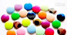 Wholesale New Arrive Fashion MM size beautiful Candy Color d nail art metal studs decals stickers