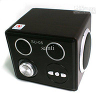 2 Universal MP3 Speaker Brand New SU-05 card mini speakers lithium Speaker U disk SD card mobile phone speaker