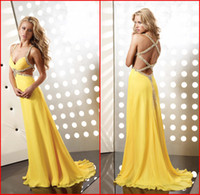 Reference Images ap summer - New Prom Dresses V Neck Beaded Straps Sexy Cutout Back A Line Sweep Long Crystals Jasz Couture Formal Gowns Party Dress AP