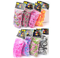 Big Kids Multicolor Latex Spot color strong rubber band stretch bracelet rainbow rainbow loom weaving accessories 600 send button