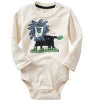 Wholesale Jumping Beans Baby Bodysuits Long Sleeve Baby Rompers Baby Clothes Newborn one pieces Lion B12