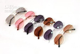 Wholesale Fashion Cute Baby Boys Girls Kids Sunglasses Metal Frame Child Goggles Colors Christmas gift