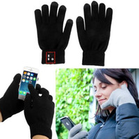 For Apple iPhone Bluetooth Headset Earphones 50 Pairs lot + New Kintting Wool Bluetooth 3.0 Talking Touch Gloves CellPhone Earphones Handset Headset Support Hands-Free Touch Function