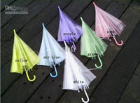 Wholesale Fashion thickening transparent umbrella eco friendly performance bumbershoot sun parasol