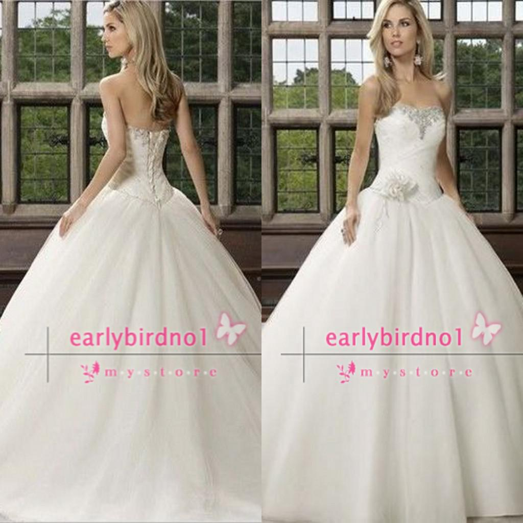 2014 Gorgeous Ball Gown Wedding Dresses y Sweetheart