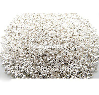 Wholesale Silver Plated Crimp Spacer Beads mm Dia fashion accessory jewelry DIY W00555