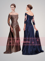 Wholesale 2014 Vintage s Sexy Cap Sleeves Long Sleeve Applique Beaded Lace Taffeta Mermaid Mother Of The Bride Dresse