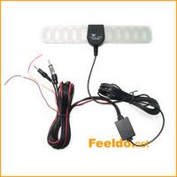 Precio de Car antenna amplifier-30set / lot para el coche 2IN1 de TV / FM Antena de TV Antena de radio amplificador + Booster, larga vida útil, la calidad del gurantee