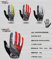 Wholesale HANDCREW Cycling Riding Racing Adult Full Finger Biker Gloves New W1012