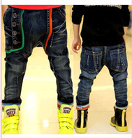 Wholesale New Arrival Fashion Boy Harem Jeans Good Quality Children Denim Harem Pants Kids Jeans Trousers QZ486