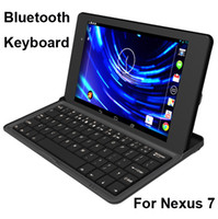 Wholesale N72 Mobile Wireless Bluetooth Aluminum Keyboard Stand Cover Case For Google Asus Nexus Tablet With Retail Box