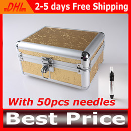 2013 Newest Auto&Electric Dermapen With 50pcs of 12 Needles Tips For Free Auto Microneedle Derma Rolling System Pen DHL Free Shipping