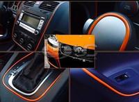 Universal  pvc Trim DIY 5m ORANGE PVC Car Decoration Moulding Trim Strip Line STICKER THREAD NEW