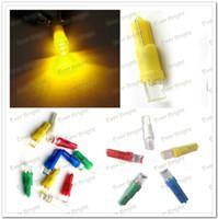 SMD SMT LED Bulbs automotive lens - 1000pcs LED Automotive Lighting Car LED Bulb T5 led concave lens Chip LED Bulb LED Lamp DC V