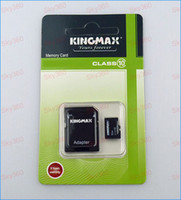 Wholesale 32GB Class Kingmax Micro SD TF Memory Card with Adapter Retail Package Flash SD SDHC Cards DH0270j